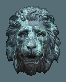 Jane McIlroy - Antique Lion Face in Blue