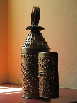 Alfred Ng - Antique pierced tin candle lantern