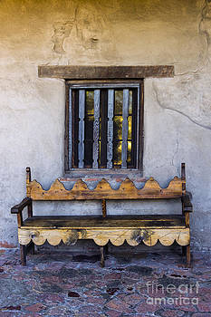 Antique Wooden Bench and Window by David Doucot
