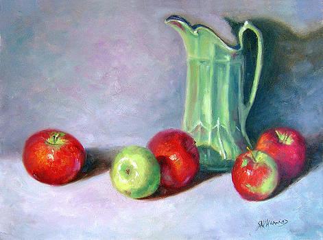 Apple andGreen Vase by Sharen AK Harris