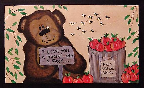 Apple Orchard Bear by Cindy Micklos