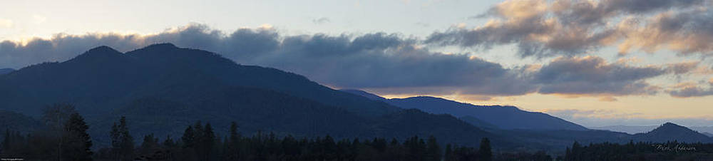 Mick Anderson - Applegate Winter Sunset Panoramic