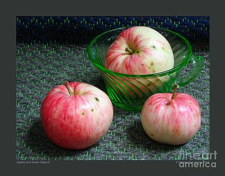 Apples and Green Glass-II by Patricia Overmoyer