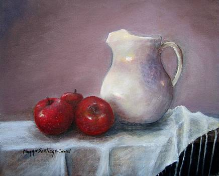 Apples and Pitcher by Maggie  Cabral