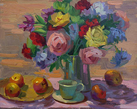 Diane McClary - Apples and Roses Plein Air
