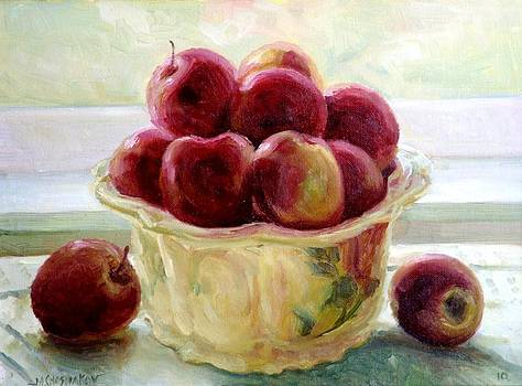 Apples in a Bowl by Michael Chesnakov