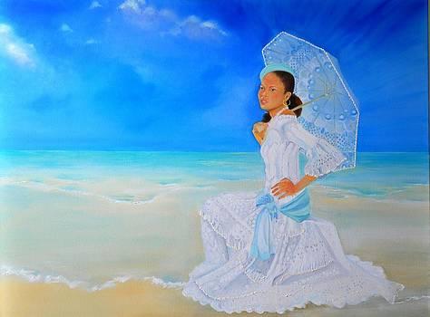Aqua Bleu Belle creole by Katia Creole Art