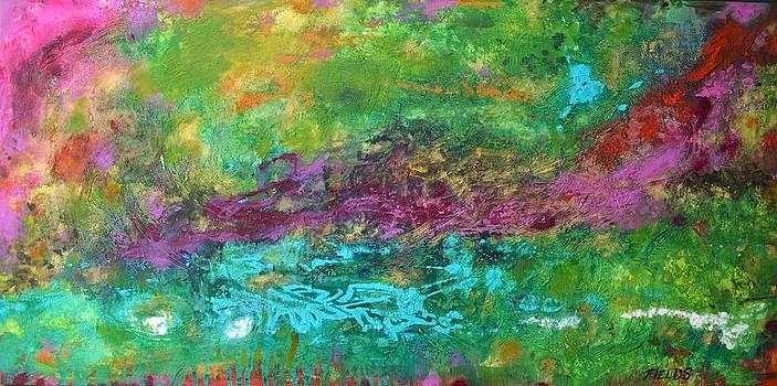 Aquamarine Abstract by Karen Fields