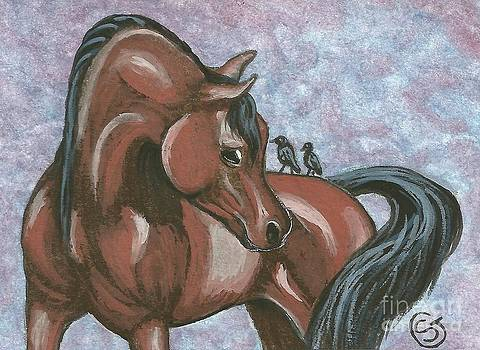 Arabian Mare - Hey That is Private Property by Sherry Goeben
