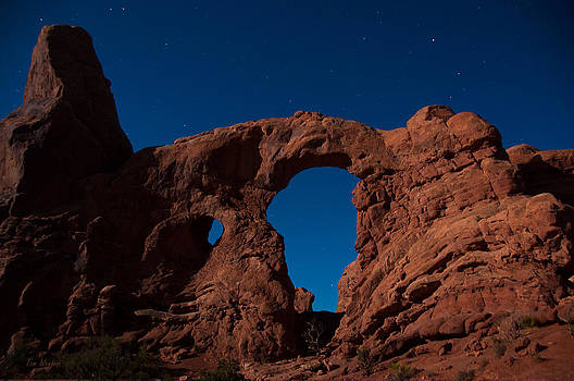 Arch at Night by Tom Wenger