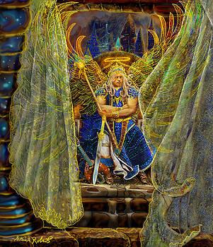 Archangel Michael-Angel Tarot Card by Steve Roberts