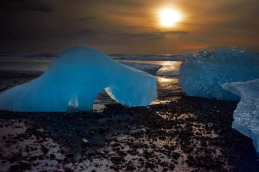 Arctic Morning Ice Melt by Mike Berenson