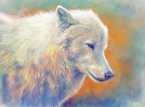 Arctic wolf by Bernadett Kovacs
