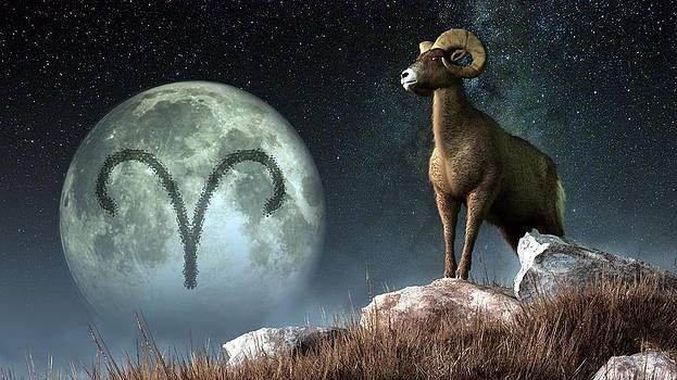 Daniel Eskridge - Aries Zodiac Symbol