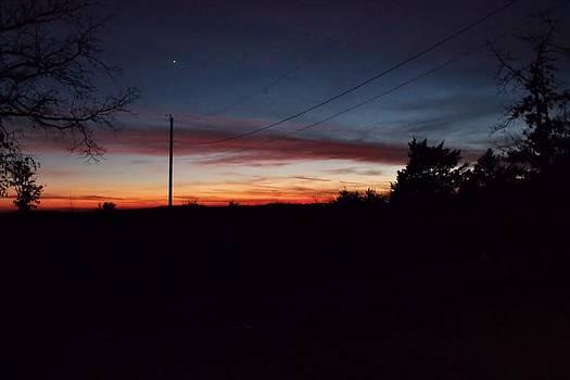 Arkansas winter sunset by Edward Hamilton