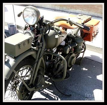 Gail Matthews - Army Green Military Motorcycle