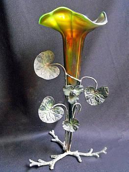 Art nouveau aurene art glass by Anonymous