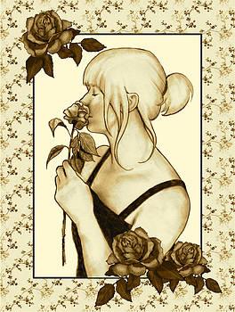 Joyce Geleynse - Art Nouveau Style Woman With Roses