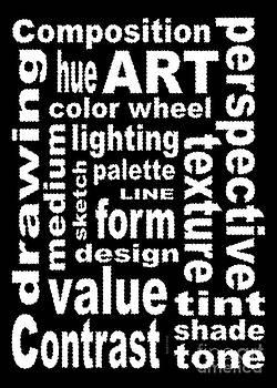 Art Sign Black by David K Small
