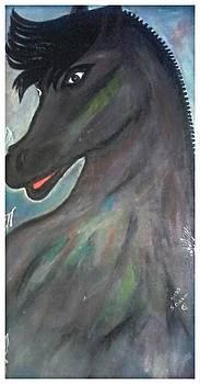 Artds -  le Cheval Noir by Souad Dehhani