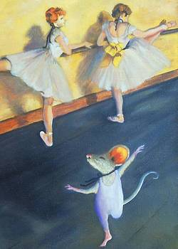 Artemouse with Dancers at the Barre by Debbie Patrick