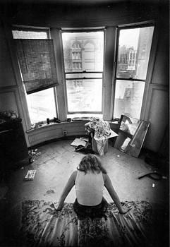 Artist as La Penseur by Barb Greene mann