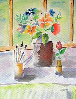 Artist Flower pot by Hashim Khan
