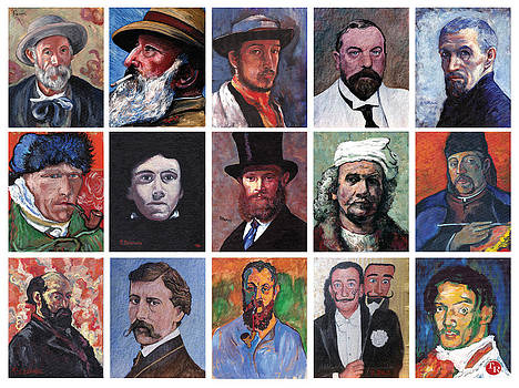 Tom Roderick - Artist Portraits Mosaic