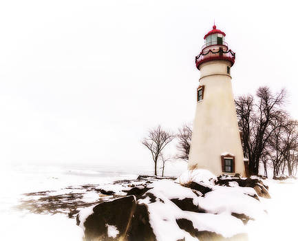 Jack R Perry - Artistic Marblehead Lighthouse