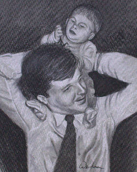 As a Father Carries His Son by Kathy Weidner