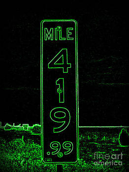 As Pure as it Gets in Green Neon by Kelly Awad