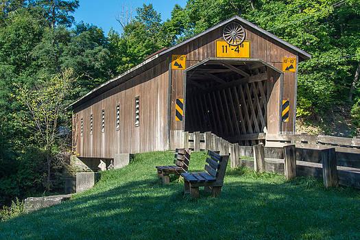 Ashtabula Collection - Creek Road Bridge 7K01969 by Guy Whiteley