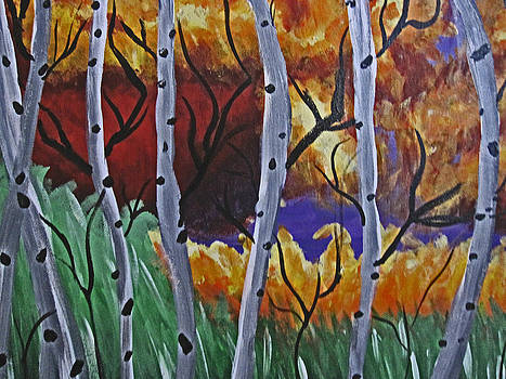Aspens And Wine by Tammy Sutherland