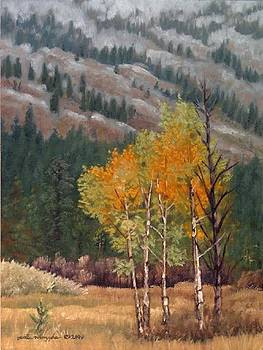 Aspens in the Tetons by Peter Muzyka
