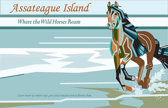 Assateague Island Illustration by Joshua Holmes