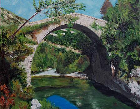 Asturias bridge by Pedro Riera