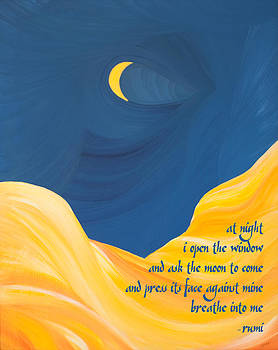 At Night with Rumi and the Moon by Ginny Gaura