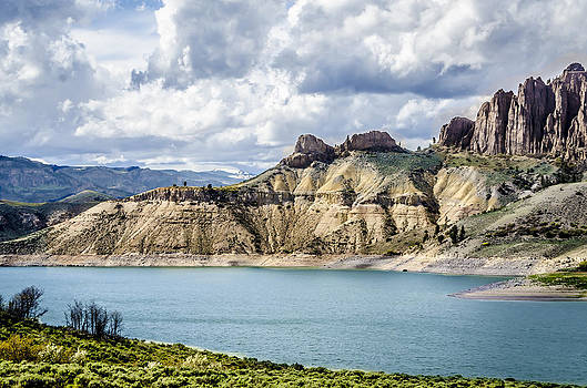 At the Blue Mesa by Debbie Karnes