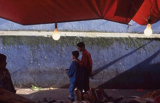 At the fish market Casablanca 1996 by Rolf Ashby