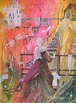 At The Top Of The Stairs by Jackie Mueller-Jones