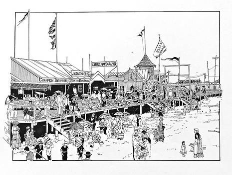 Atlantic City Boardwalk 1883 by Ira Shander