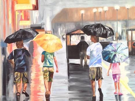 Atlantic City Boardwalk Rain by Joanne Killian