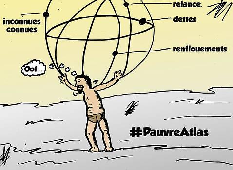 Atlas et les finances dessin comique by OptionsClick BlogArt