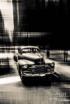 attracting curves III gray by Hannes Cmarits