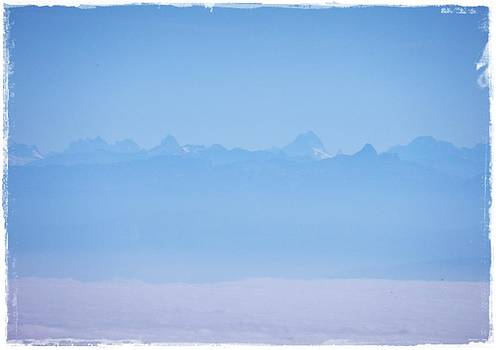 Au Loin ...les Alpes by Gerard Jacques Odot