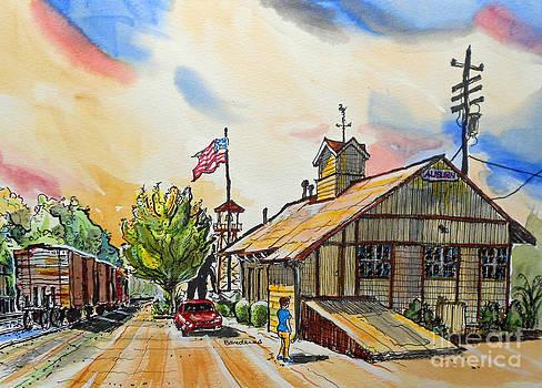 Auburn Train Depot-Westbound by Terry Banderas
