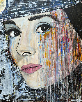 Audrey Hepburn-Abstract by Ismeta Gruenwald