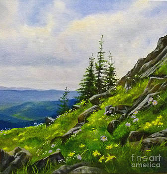 August Color- Crowfoot Mountain by Linda Hunt