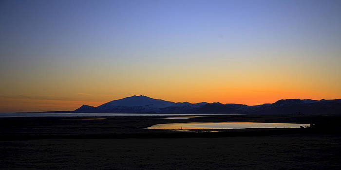 August sunset by Stefan  Gudmundsson