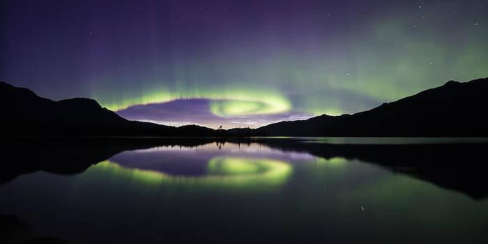 Aurora Spiral Panorama by Lisa Hufnagel
